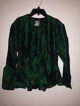 Yessica women jacket coat peplum beautiful sz 14 fits M green - $47.99