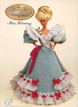Miss February 1994 Gibson Girl Outfit fits Barbie Doll Crochet Pattern B... - $2.67