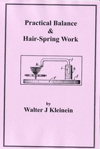 Practical Balance & Hairspring Work - How to CD - Book - - $6.99