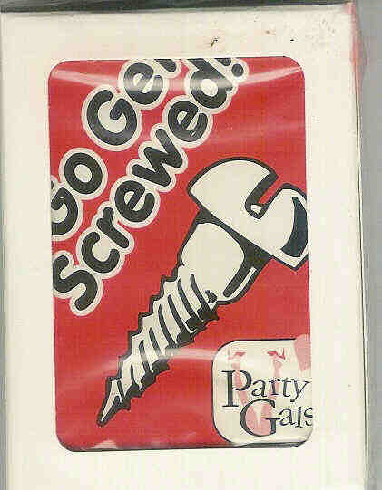 Screw party game card