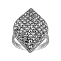 Aura 925 Sterling Silver Marcasite Ring (MR01367) - £28.02 GBP