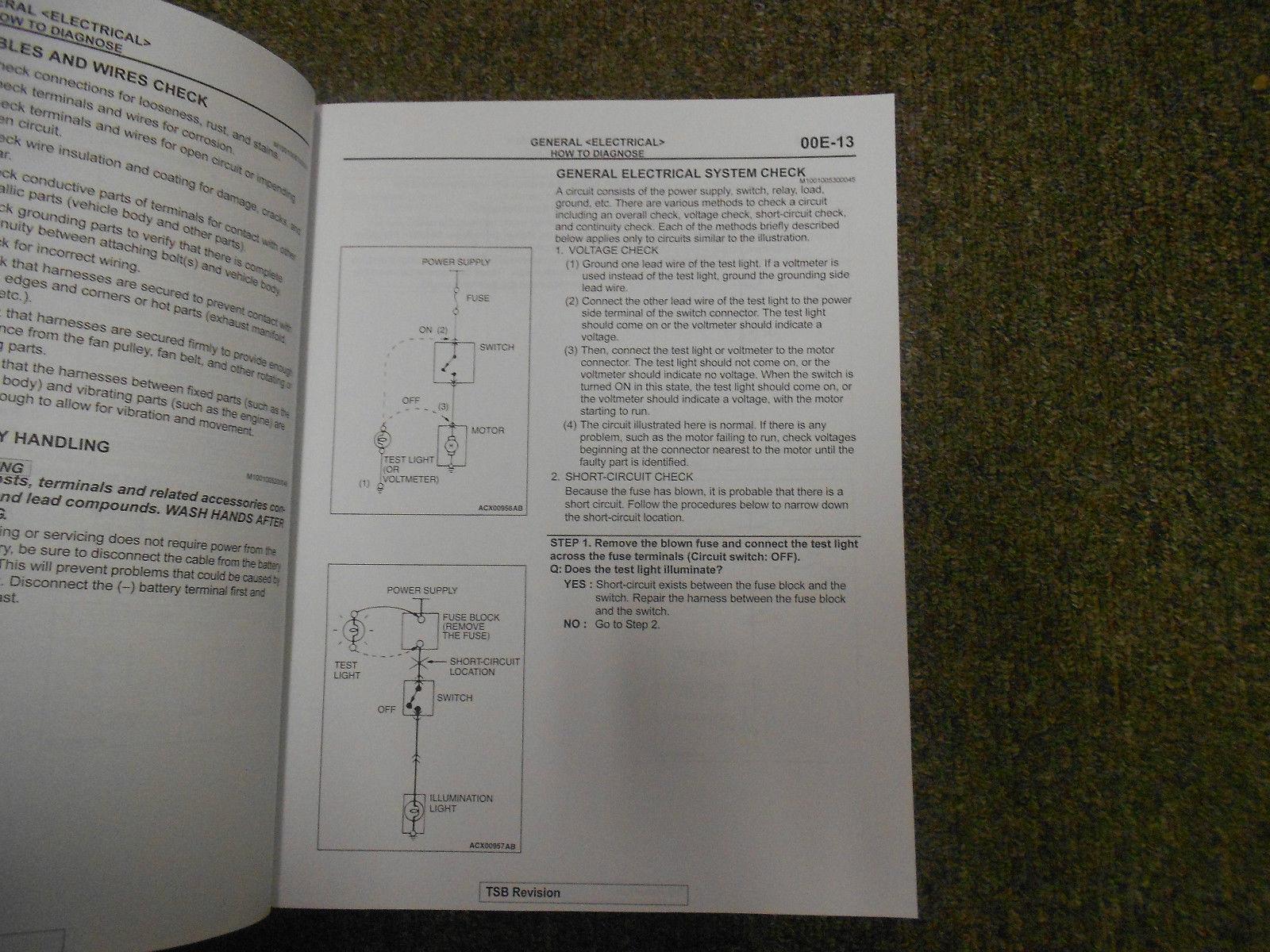 2011 MITSUBISHI Outlander Electrical Supplement Service Repair Shop Manual OEM