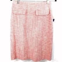 Liz Claiborne Straight Pencil Silk Skirt Size 8 Pink Tweed Lined Career ... - $44.54