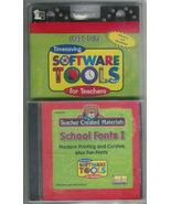 Tools for Teachers - School Fonts I - PC Software  - $5.90