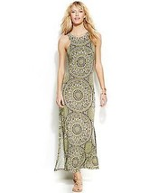 INC International Concepts Dress Maxi printed sz L  0012345 - $46.99