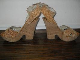Michael Kors New Peanut Ankle Wrap Platform Sandals Heels Medium  (B,M) ... - $110.00