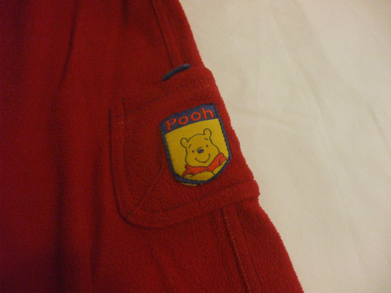 Winnie The Pooh Vest And Pants Red 100% Polyester Boy Girl 18 Months