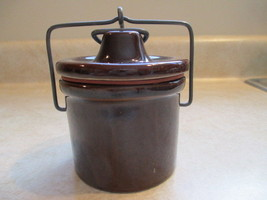 Brown Stoneware Butter/Cheese Crock with Lid - $16.99