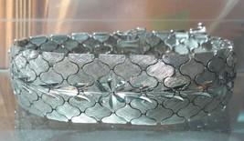 .925 Sterling Silver Ornate Etched Vintage Style Bracelet - Free Shipping ! - $91.99