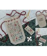 Sampler Sack & Scissors Tag cross stitch chart Drawn Thread - $10.80