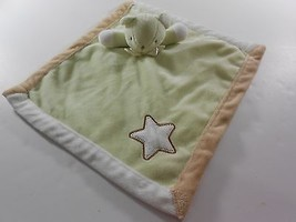 "Blankets and Beyond Green Bear Star Baby Lovey Security Blanket 15.5""X14"" - $16.12 CAD"