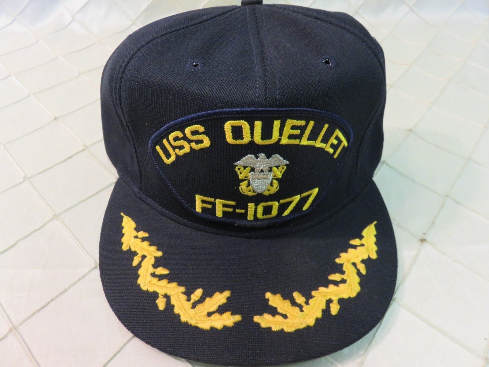 9e8f9dcfef4 USS OUELLET FF-1077 Navy Adjustable Military Snapback Trucker Ballcap Hat  Cap