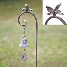 Rustic Benson Bell Garden Stake with Bell Ornamental Bird Outdoor Decor - $420,51 MXN