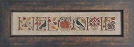 Welcome Autumn cross stitch chart Drawn Thread - $9.00