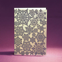 Snowflake Laser Cut A7 Greeting Note Cards, Pack of 25 - Opal Shimmer - $54.44