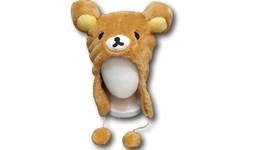 Rilakkuma Bear Cute Anime Animal Hat Rave Beanie Cap Furry Plush Cosplay... - €5,99 EUR