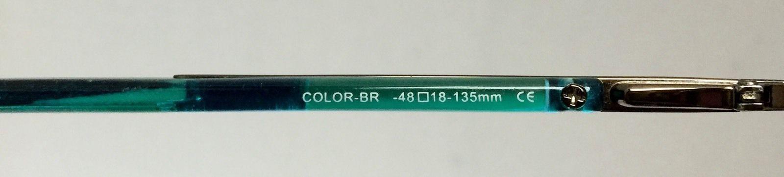 9614fb14a0 ... ELLE Prescription RX Eyeglass Silver Metal BR Aqua Frames EL18575 48 18  135