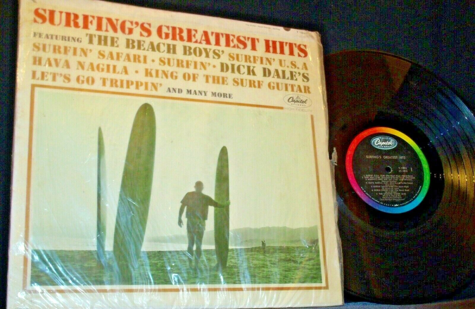 Surfing's Greatest Hits Capitol Record T1995 AA-192005 Collectible