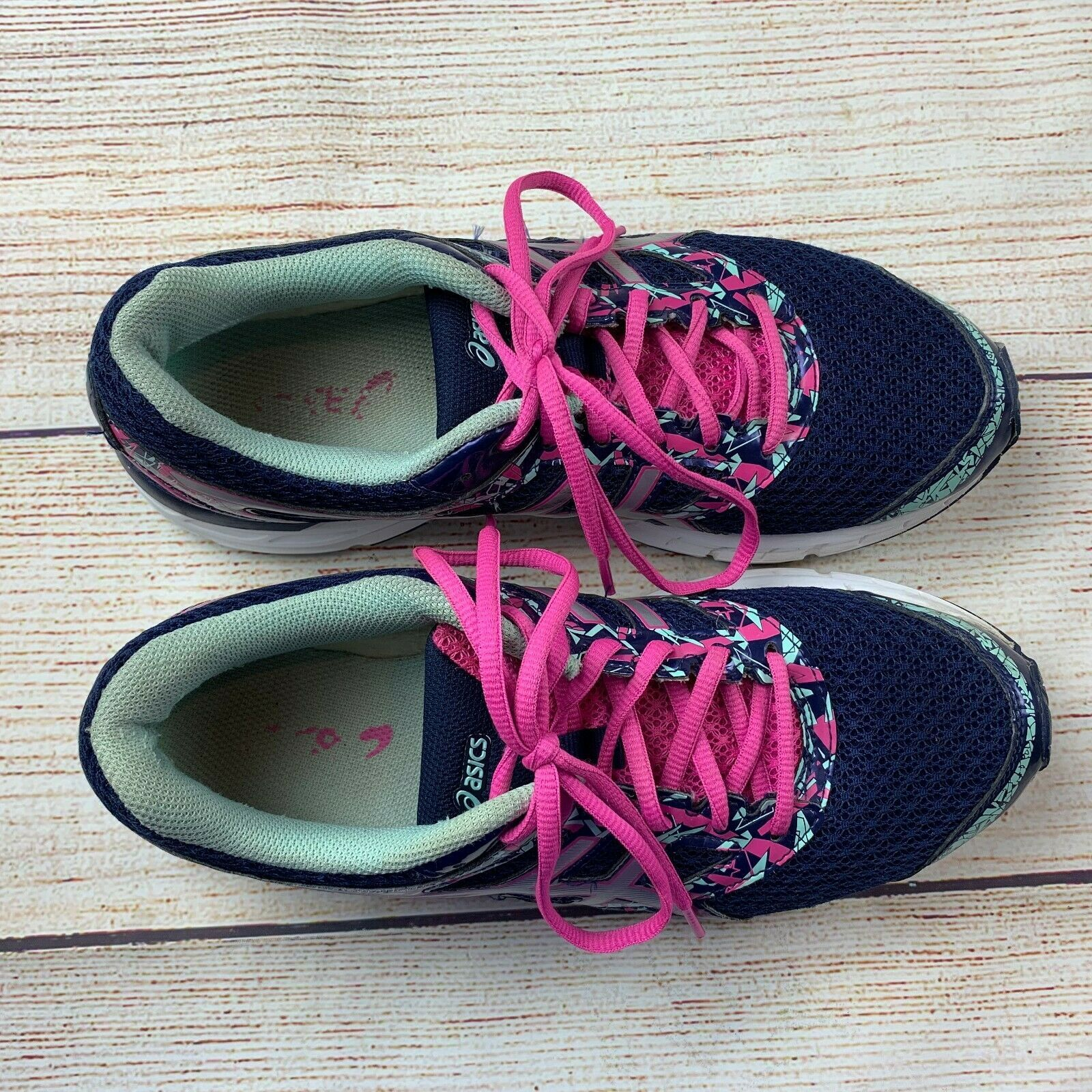 Asics womens Gel Excite 4 Navy Pink Running Shoes Sneakers 10/ 42 EUC image 8