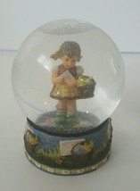 1999 Berta Hummel Sealed With A Kiss Snow globe... - $23.38