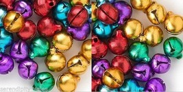 Lot 500 Jingle Bells ~ Mixed Jewel Tones Christmas Colors Beads Charms 10 12mm - $17.49