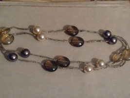 Beautiful never-ending beaded pearl necklace  - $10.00
