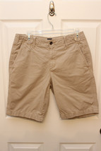 Gap Classic Tan Micro-Ribbed Khaki Cotton Flat Front Shorts Men's Size 30 - $15.42