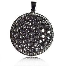 Classic diamond polki & white topaz gemstone 925 sterling silver pendant SP0333 - $57.96