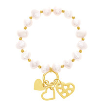 Gold-Tone Stainless Steel Fresh Water Pearl and... - $13.99
