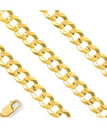 Real 5.3mm Mens 10K Yellow Gold Semi Solid Necklace Cuban Curb Chain All... - $314.35+