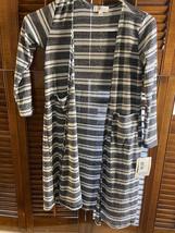 Lularoe Kids Sariah Duster Sweater Cardigan Size 10 Knit Striped - $22.00