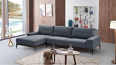 Modern 709 Fabric Sectional Sofa  by ESF Lefthand chase