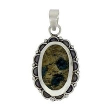 925 Sterling silver wedding women pendant with K2Azurite gemstone SHPN0245 - $19.17
