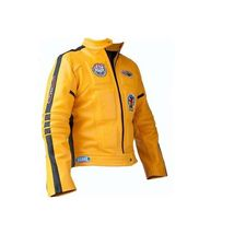 Handmade New Men Stylish Biker Motorcycle Leather Jacket In Yellow colour  - $159.00