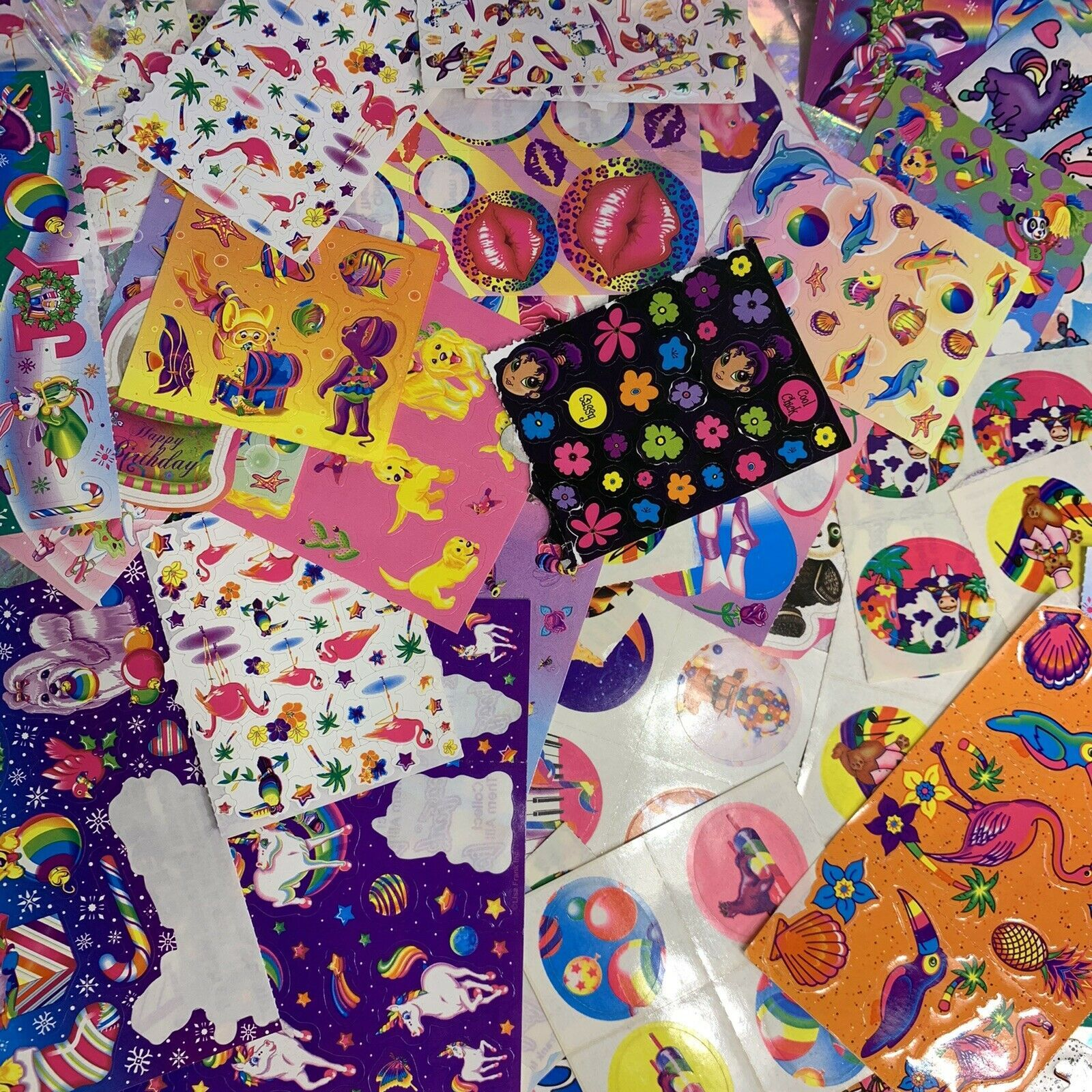 50 Lisa Frank Variety 1980 90s Y2K Sticker Mods  Cosmically Selected