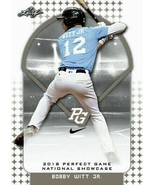 "Bobby Witt Junior 2018 1st Ever Stampato "" Foglia Perfect Game Rookie Card - $2.94"