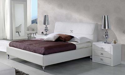 Modern Chic Emily 887 White Bedroom Set  by ESF 3pcs Queen Made in Spain