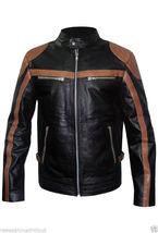 Mens Motorcycle Biker Black Vintage Handmade Leather Jacket.mens new fas... - $159.00