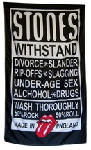 Rolling Stones Flag 5' X 3' Vertical Rock & Roll Music Banner - $19.95