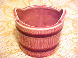 Planter Pot Norcrest Japan Porcelain Pink Pottery Bucket Pail - $15.54
