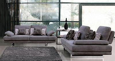 Chic Modern 1174 Fabric Sofa and Loveseat Set  by ESF 2pcs