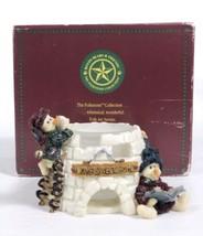 Boyds Bears Folkstone Yukon & Kodiak Nome Sweet Nome Votive Candle Holder - $16.65