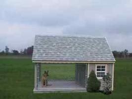 DOG RUN OUTDOOR KENNEL K-9 HOUSE AMISH PA DUTCH CUSTOM BUILT HANDMADE SH... - $3,554.10