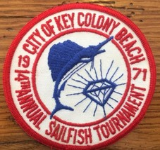 Vintage City of Key Colony Beach Sailfish Tournament Patch 1971 Florida ... - $19.30