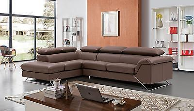 Modern Contemporary Caracas Leather Sectional Sofa  by ESF Lefthand chase
