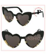 SAINT LAURENT LOULOU 181 YSL SL181 Black Sand Spot Heart Sunglasses Unis... - $259.88