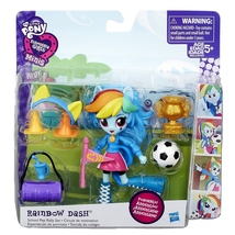 My Little Pony Rainbow Dash School Pep Rally playset Equestria Girls mnis - $249,16 MXN