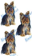 Yorkie Dog Triple Sticker Decal Home Office Dor... - $5.99