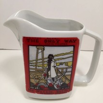 """Vintage White Serving Pitcher with """"A Tale of Two Cities"""" Poster Graphic - $14.85"""