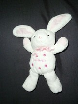 Carter's Sweetheart BUNNY White Rattle Velour Soft Plush Flowers Pink Sa... - $19.78